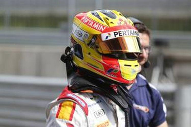 Pebalap Campos Racing asal Indonesia, Rio Haryanto, siap beraksi pada sprint race GP2 Austria di Sirkuit Red Bull, Spielberg, Minggu (21/6/2015).