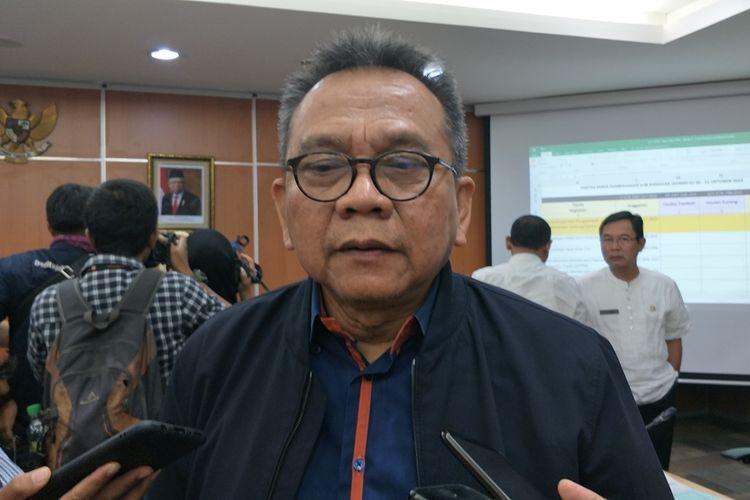 Wakil Ketua DPRD DKI Jakarta Mohamad Taufik di Gedung DPRD DKI Jakarta, Jumat (1/11/2019).