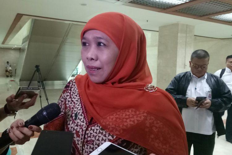 Menteri Sosial Khofifah di Kompleks Parlemen, Senayan, Jakarta