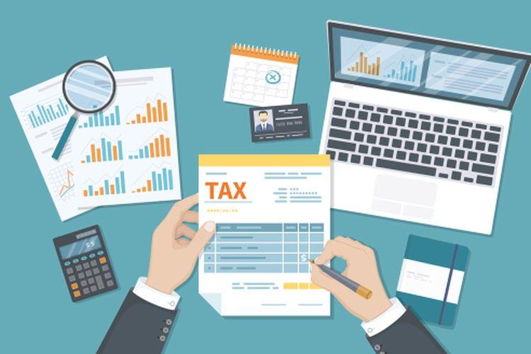 Ilustrasi pelaporan pajak.