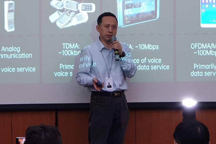 Henry Tang, Chief 5G Scientist Oppo saat menjadi pembicara di acara Oppo Inno Day 2019: 5G Workshop di Shenzen, China.