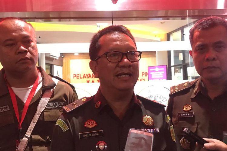 Kepala Pusat Penerangan Hukum Kejagung Hari Setiyono di Gedung Bundar, Kompleks Kejagung, Jakarta Selatan, Senin (10/2/2028).