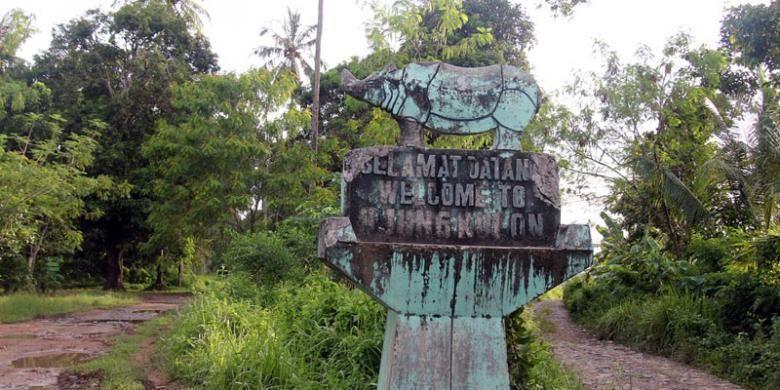 Perjalanan menuju Taman Nasional Ujung Kulon, Kabupaten Pandeglang, Banten, Jumat (1/5/2015).