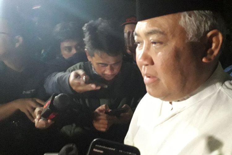 Mantan Ketua PP Muhammadiyah Din Syamsuddin saat melayat ke rumah duka Presiden ketiga Habibie di kawasan Patra Kuningan, Rabu (11/9/2019).