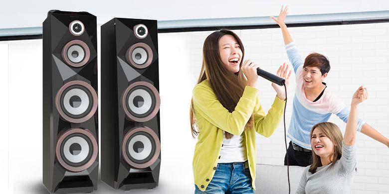 Ilustrasi penggunaan speaker.