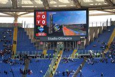 Suporter Roma dan Lazio Nobar MotoGP di Stadion Olimpico