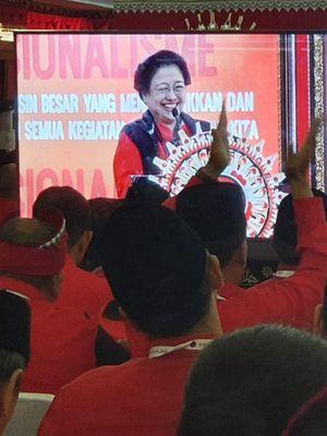 Penetapan Megawati sebagai ketua umum dilakukan secara tertutup dalam Kongres V PDI-P di Hotel Grand Inna Bali Beach, Sanur, Bali, Kamis (8/8/2019).