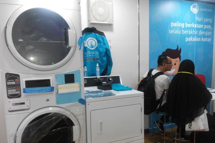 Model waralaba laundry online LaundryKlin di Jakarta.