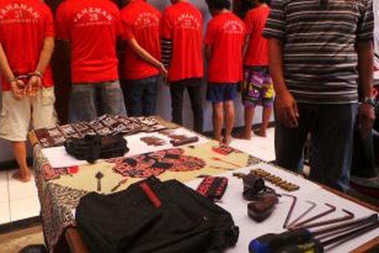 Maling motor ditangkap petugas Polsek Kramatjati, Jakarta Timur. Kamis (28/8/2014).