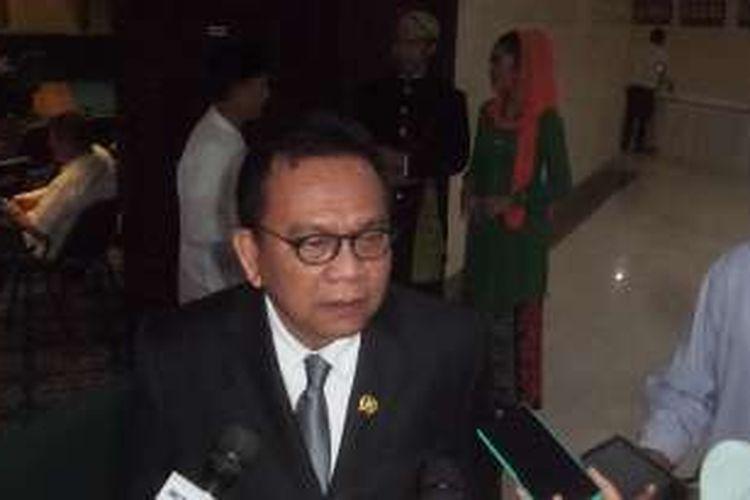 Ketua DPD Partai Gerindra DKI Jakarta Mohamad Taufik, Kamis (17/3/2016)