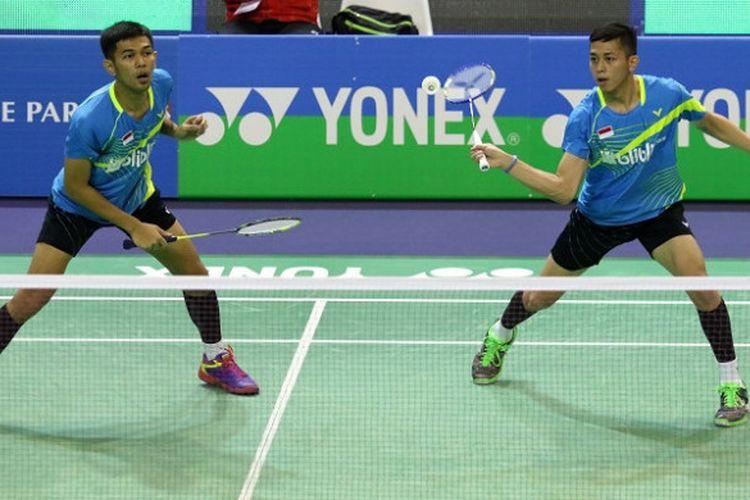 Pasangan ganda putra Indonesia, Fajar Alfian/Muhammad Rian Ardianto,