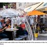 Makan di Luar Ruang Pakai Tenda Plastik demi Cegah Covid-19, Amankah?