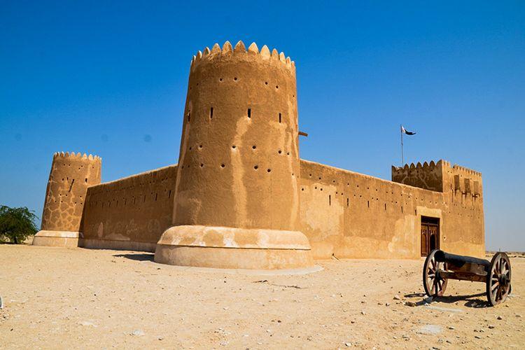 Benteng Al Zubarah di Rentuntuhan Kota Al Zubarah, Qatar.