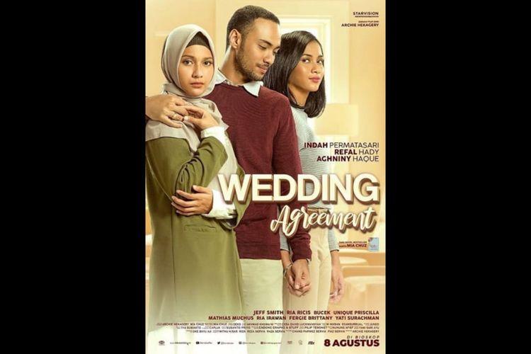 Poster film Wedding Agreement (2019), dibintangi Indah Permatasari dan Refal Hady.