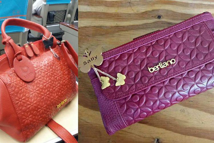 Tas dan dompet kulit motif batik Berliano