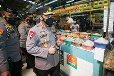 Kapolri Ingatkan Pedagang Pasar Disiplin Prokes selama PPKM