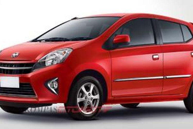 Toyota menawarkan pilihan warna baru Agya, merah, untuk semua varian.