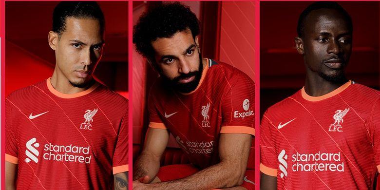 Liverpool resmi meluncurkan seragam kandang klub untuk musim 2021-2022.