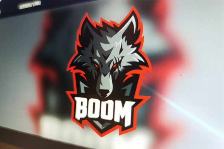 Ilustrasi logo tim Boom Esports.