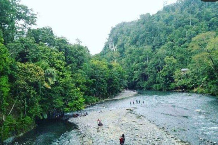 Obyek wisata Batu Katak di Taman Nasional Gunung Leuser, Kabupaten Langkat, Sumatera Utara (Tribun Medan / Muhammad Anil Rasyid).
