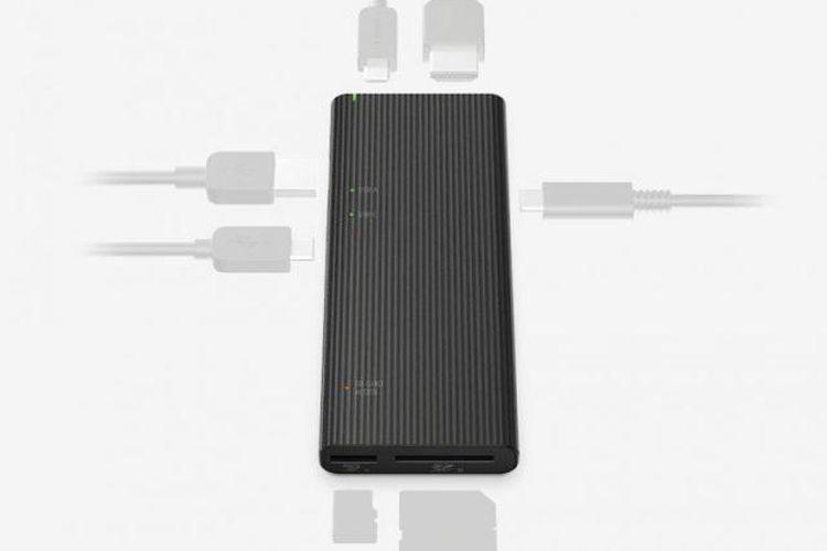 Ilustrasi USB Hub MRW-S3 dari Sony