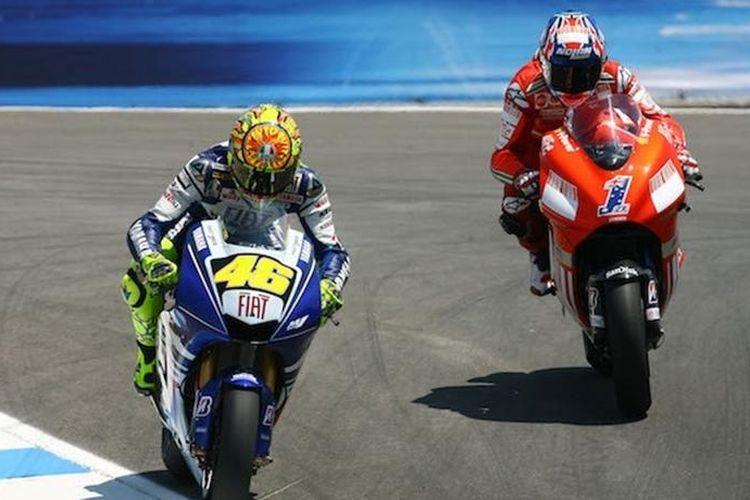 Rossi vs Stoner Laguna Seca 2008