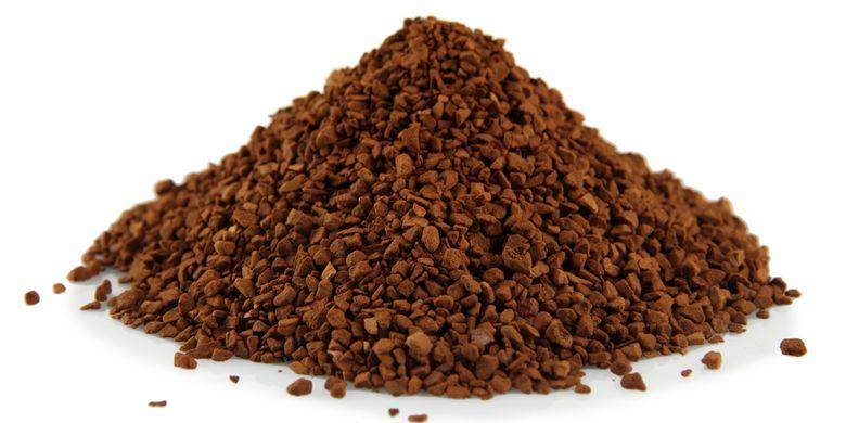 Ilustrasi kopi instan tanpa campuran gula dan krim
