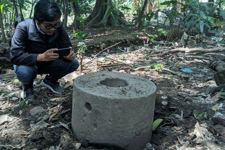Benda yang diduga Cagar Budaya peninggalan Pabrik Tebu yang dibuat 1700 Masehi di Kota Tangerang, Rabu (29/1/2020)