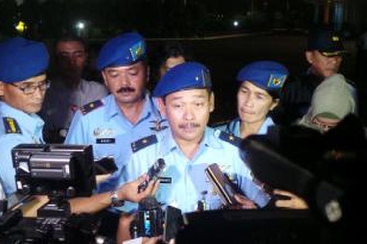 Kepala Dinas Penerangan TNI Angkatan Udara Marsma Dwi Badarmanto di Lanud Halim Perdanakusuma. Rabu (1/7/2015).