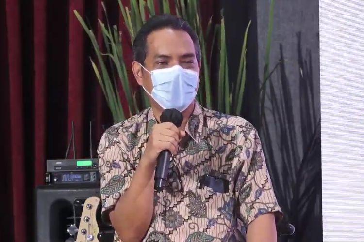 Direktur Tanaman Tahunan dan Penyegar Kementerian Pertanian Heru Tri Widarto ketika berbicara di talkshow Pekan Sagu Nusantara 2020