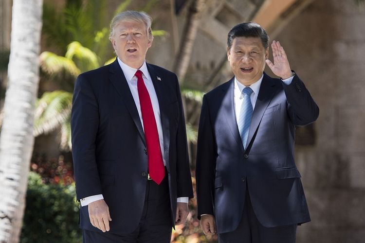 Presiden Amerika Serikat Donald Trump dan Presiden China Xi Jinping