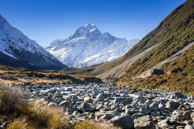 tasman river valley di New Zealand, salah satu tempat syuting Mulan