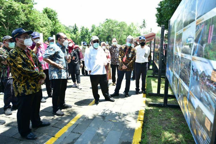 Menteri PUPUR Basuki Hadimuljono menghadiri seremoni persiapan pembangunan Jalan tol Yogyakarta-Bawen.