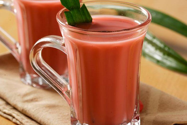 Ilustrasi wesang jahe susu secang.