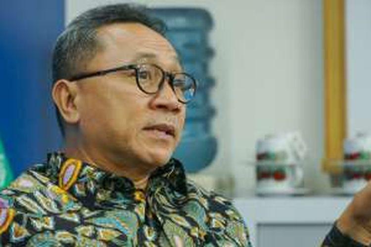 Ketua MPR Zulkifli Hasan saat berkunjung ke redaksi Kompas.com, Rabu (10/8/2016).