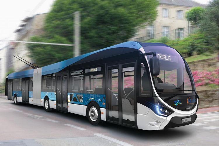 Ilustrasi Trolleybus