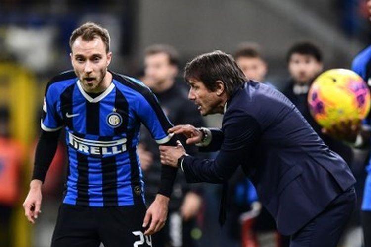 Christian Eriksen menjalani laga debutnya bersama Inter Milan pada babak perempat final Coppa Italia kontra Fiorentina, Kamis (30/1/2020) dini hari WIB.