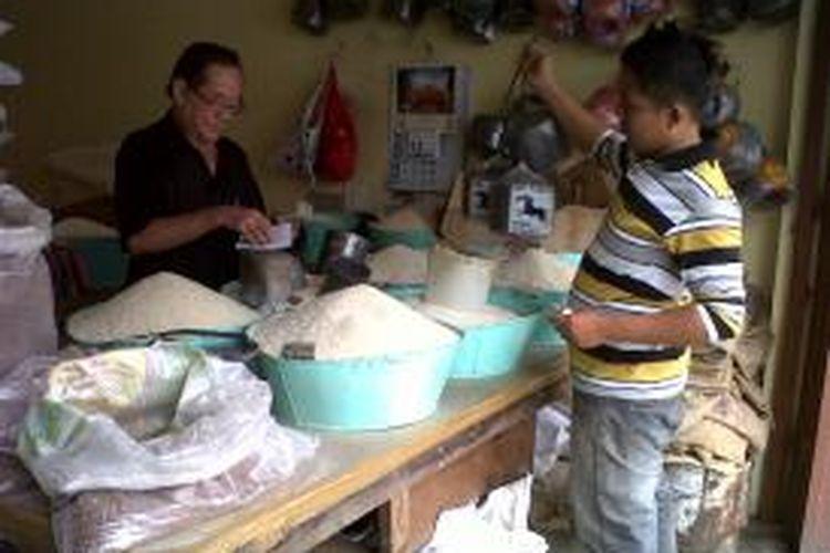 Ilustrasi pedagang beras