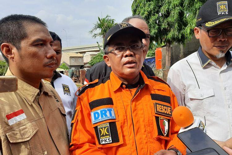 Presiden PKS Sohibul Iman di Kelurahan Cipinang Melayu, Kecamatan Makasar, Jakarta Timur, Jumat (3/1/2020).