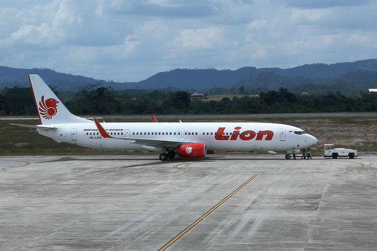 Pesawat Lion Air di Bandara APT Pranoto Samarinda Kalimantan Timur beberapa waktu lalu
