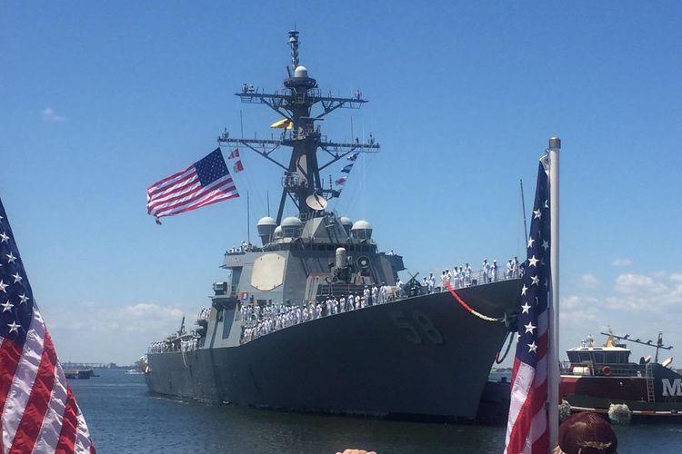 Kapal perusak milik Angkatan Laut Amerika Serikat (AS) USS Laboon.