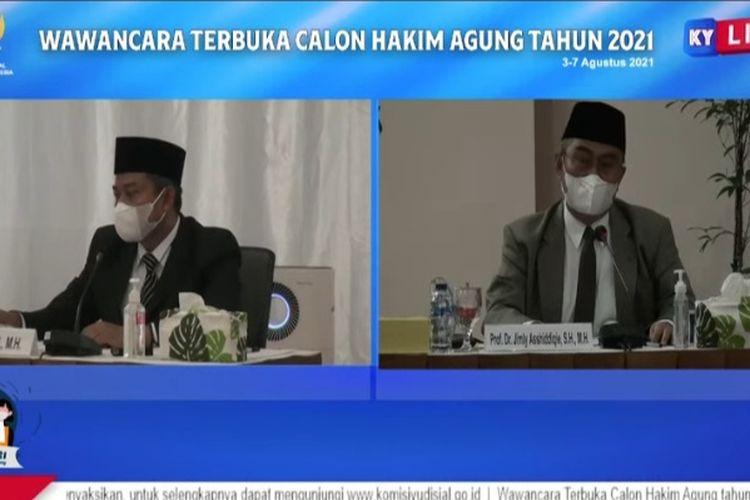 Seleksi Calon Hakim Agung 2021 yang Disiarkan Secara Daring, Selasa (4/8/2021)