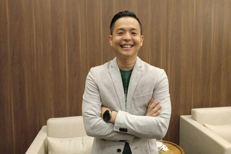 Komika Ernest Prakasa saat ditemui dalam acara diskusi di Tokopedia Tower, kawasan Karet, Jakarta Selatan, Kamis (28/3/2019).