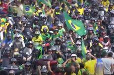 Presiden Brasil Pimpin Demo Tolak Lockdown Covid-19 yang Diberlakukan Gubernur dan Wali kota