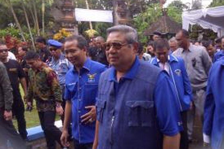 Mantan Presiden Susilo Bambang Yudhoyono berkunjung di Kantor DPD PD Bali
