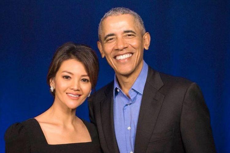 Chef Farah Quinn berfoto bersama mantan Presiden Amerika Serikat, Barrack Obama.