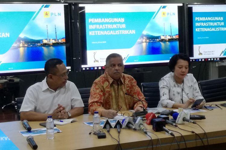 Direktur Utama Perusahaan Listrik Negara (PLN) Persero, Sofyan Basir,  di kantor pusat PLN, Jakarta, Senin (16/7/2018)