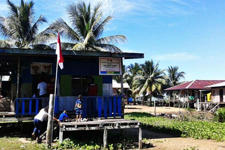 PAUD Bela Negara yang didirikan para relawan di wilayah perbatasan Desa Batang, Kecamatan Sebatik Indik, Kabupaten Nunukan.