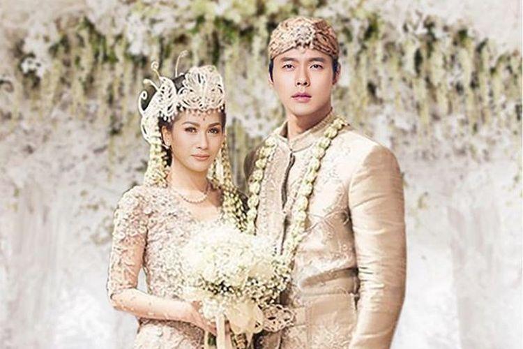 Penyanyi Tata Janeeta mengedit fotonya seolah menikah dengan aktor Korea Selatan Hyun Bin.