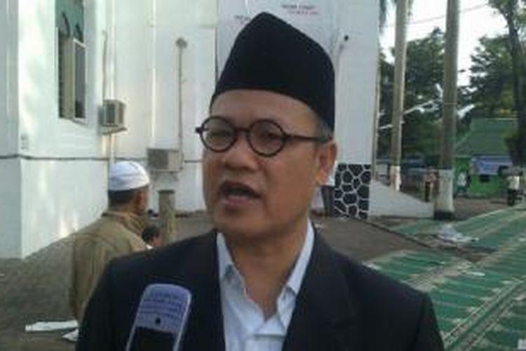 Hajriyanti Tohari seusai ceramah di Masjid Cut Mutia Menteng Jakarta, Kamis (8/8/2013)